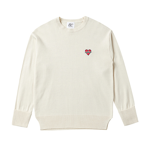 NOMANTIC BASIC LOGO KNIT IVORY