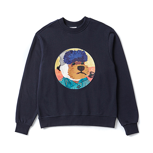 VINCENT DOG PATCH SWEAT-SHIRTS NAVY