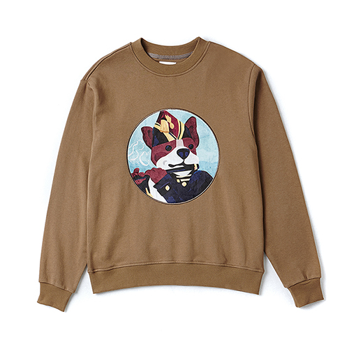 MANET DOG PATCH SWEAT-SHIRTS OLIVE