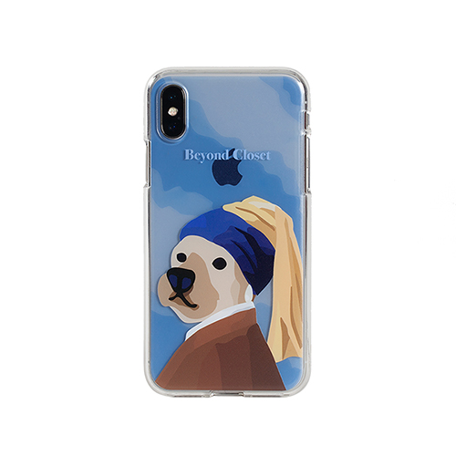 PEARL EARRING DOG IPHONE X CASE NON-COLOR