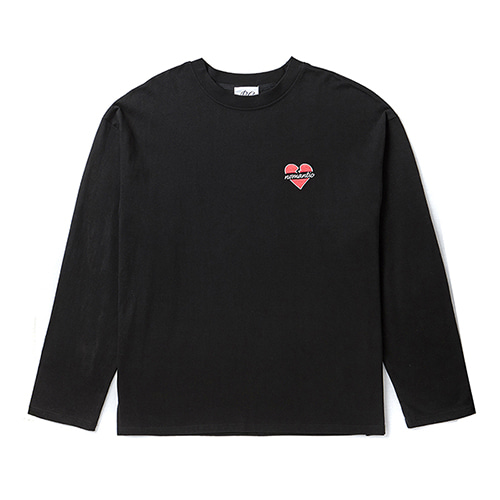 NOMANTIC LOGO LONG SLEEVE T-SHIRTS BLACK