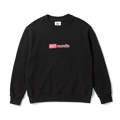 NOMANTIC TEXT LOGO SWEAT-SHIRTS BLACK