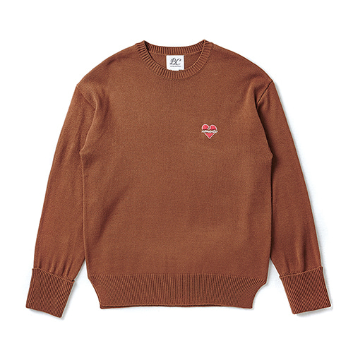 NOMANTIC BASIC LOGO KNIT BROWN
