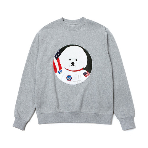 APOLLO DOG PATCH SWEAT-SHIRTS 2018VER GRAY