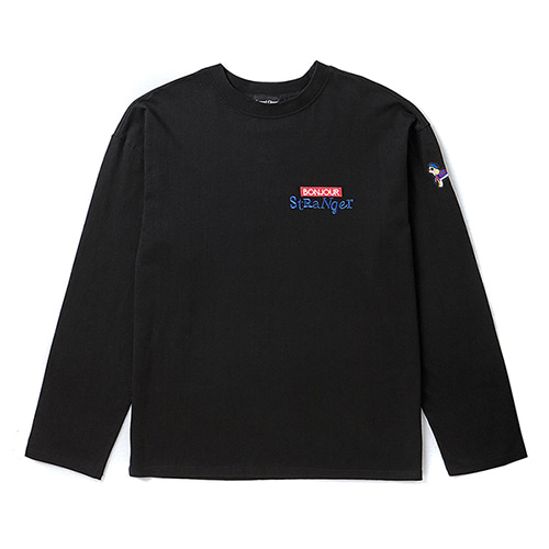 [COLLECTION LINE]BONJOUR LONG SLEEVE T-SHIRTS BLACK