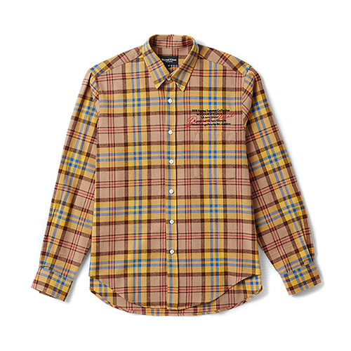 [COLLECTION LINE]ARCHIVE CHECK SHIRT MUSTARD