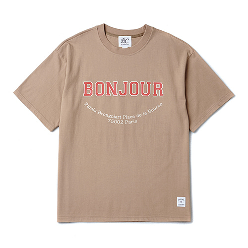[PARIS COLLECTION EDITION]BONJOUR 1/2 T-SHIRTS BEIGE