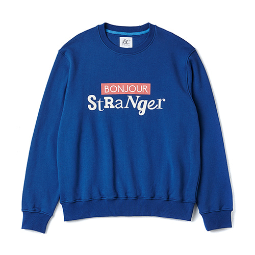 [COLLECTION LINE]BONJOUR MAIN SWEAT-SHIRTS BLUE