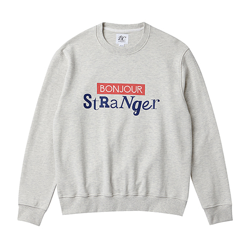 [COLLECTION LINE]BONJOUR MAIN SWEAT-SHIRTS OATMEAL
