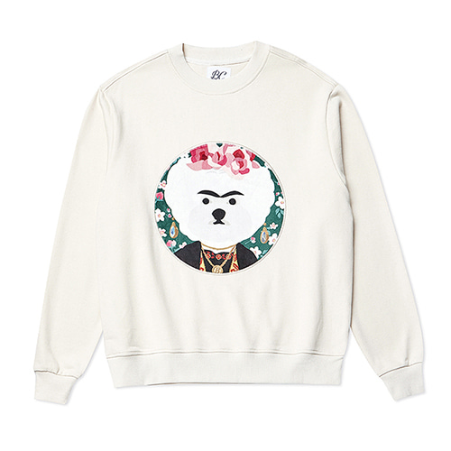 FRIDA DOG PATCH SWEAT-SHIRTS IVORY