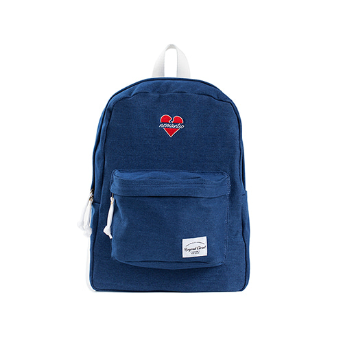 NOMANTIC BASIC LOGO BACKPACK BLUE