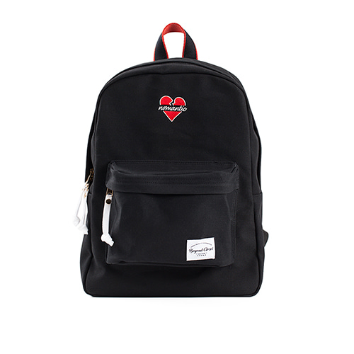 NOMANTIC BASIC LOGO BACKPACK BLACK