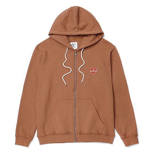 NOMANTIC LOGO ZIP-UP HOOD T-SHIRTS CAMEL