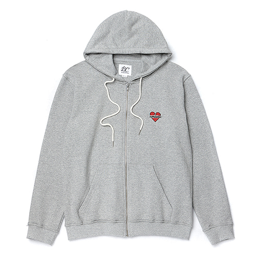 NOMANTIC LOGO ZIP-UP HOOD T-SHIRTS GRAY