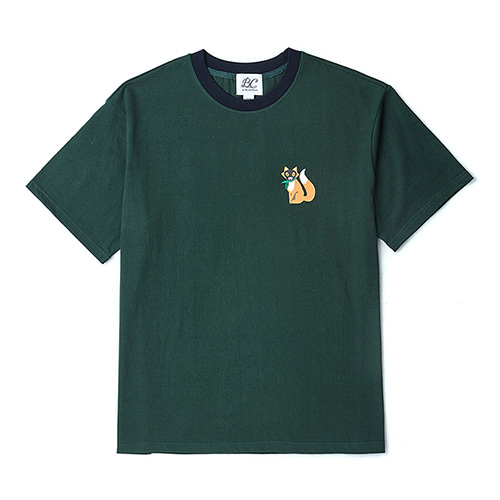 [COLLECTION LINE]BEAUTIFUL FOX 1/2 T-SHIRTS GREEN