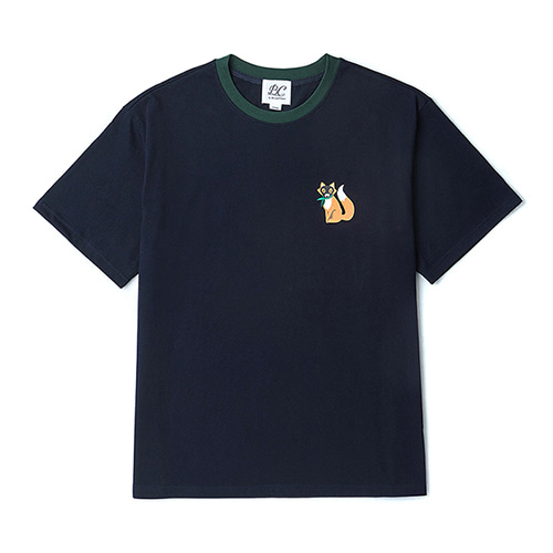 [COLLECTION LINE]BEAUTIFUL FOX 1/2 T-SHIRTS NAVY