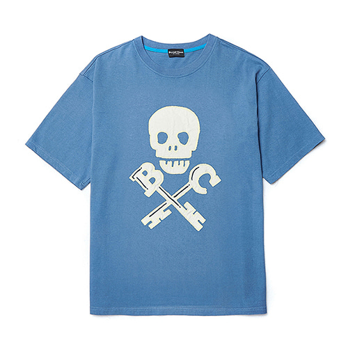 [COLLECTION LINE]BC SKULL 1/2 T-SHIRTS BLUE
