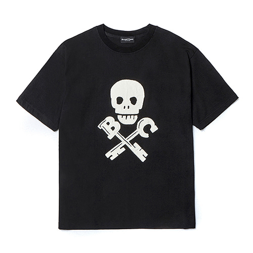 [COLLECTION LINE]BC SKULL 1/2 T-SHIRTS BLACK