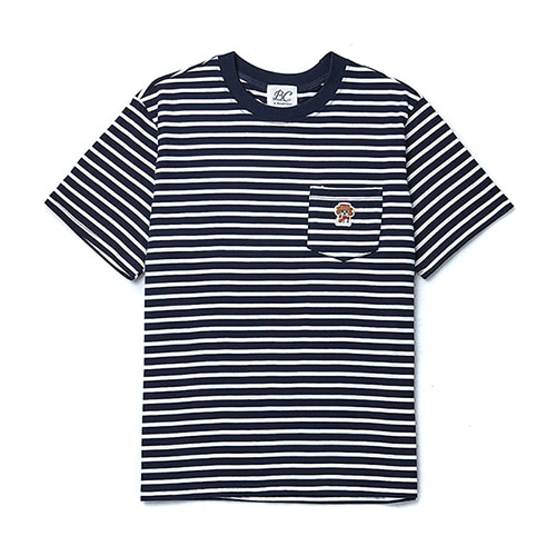 ILP LOGO POCKET STRIPE 1/2 T-SHIRTS NAVY