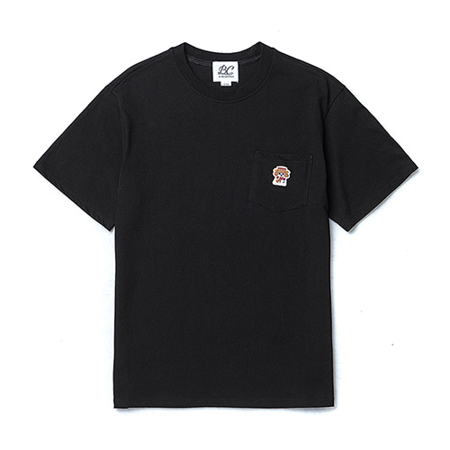 ILP LOGO POCKET 1/2 T-SHIRTS BLACK