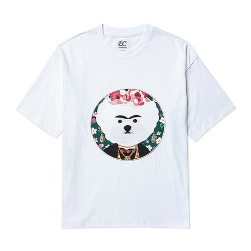 FRIDA DOG PATCH 1/2 T-SHIRTS WHITE