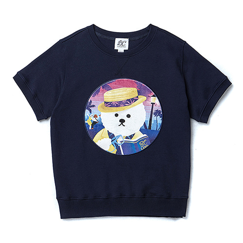 LALA DOG PATCH 1/2 MTOM NAVY