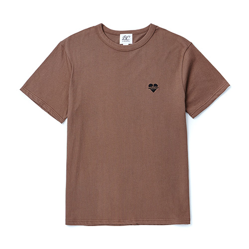 [BLACK EDITION]NOMANTIC LOGO BASIC 1/2 T-SHIRTS BROWN