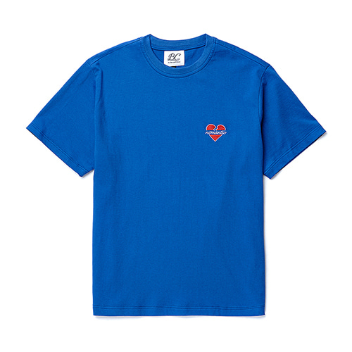 NOMANTIC LOGO BASIC 1/2 T-SHIRTS BLUE
