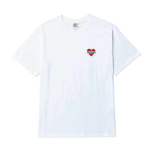 NOMANTIC LOGO BASIC 1/2 T-SHIRTS WHITE