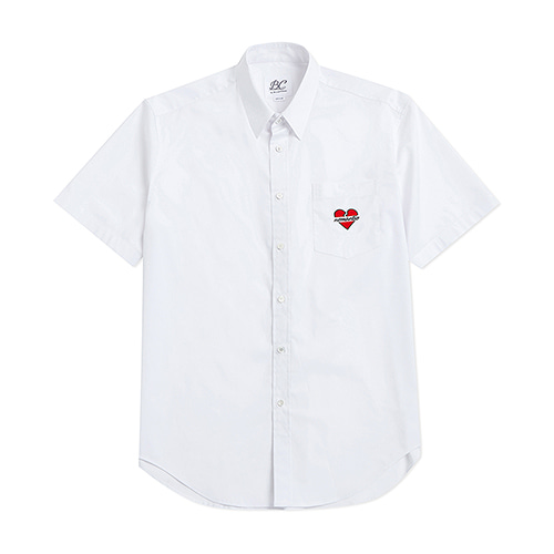NOMANTIC LOGO 1/2 SHIRTS WHITE