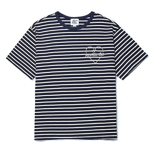 ROPE NOMANTIC STRIPE 1/2 T-SHIRT NAVY