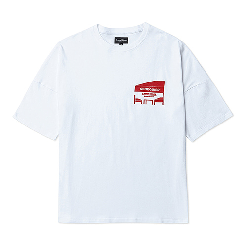 [COLLECTION LINE]CAFE LOGO 1/2 T-SHIRT RED