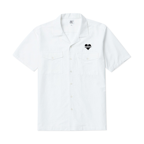 [BLACK EDITION]NOMANTIC LOGO BOWLING SHIRTS WHITE