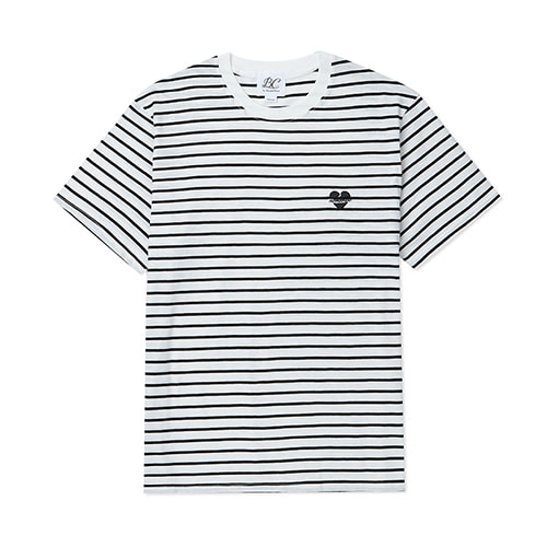 [BLACK EDITION]NOMANTIC LOGO STRIPE 1/2 T-SHIRTS BLACK