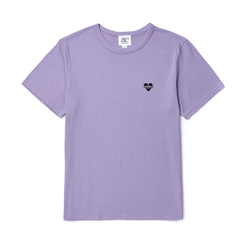 [BLACK EDITION]NOMANTIC LOGO BASIC 1/2 T-SHIRTS PURPLE