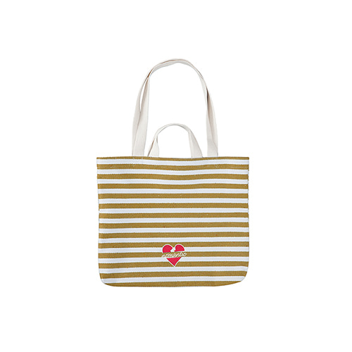 NOMANTIC LOGO STRIPE BAG BEIGE