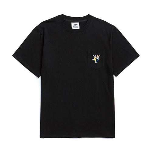 ILP LALA POCKET 1/2 T-SHIRTS BLACK