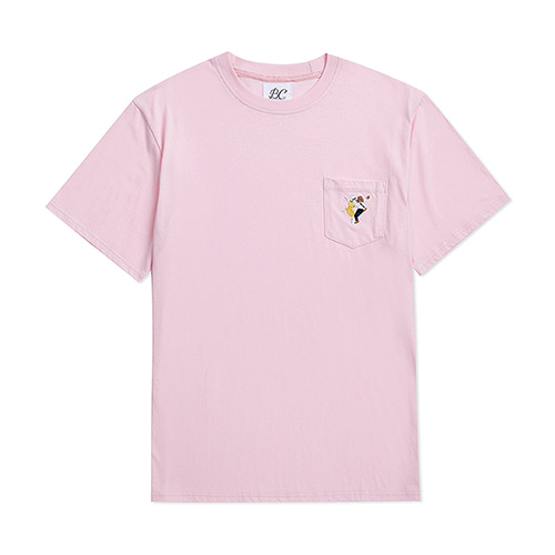 ILP LALA POCKET 1/2 T-SHIRTS PINK
