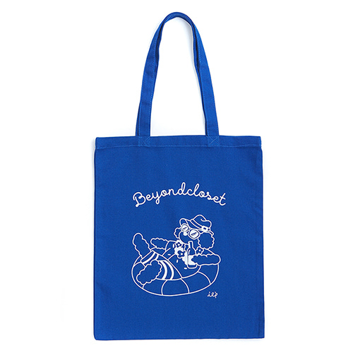 ILP LINE DRAWING ECO BAG BLUE