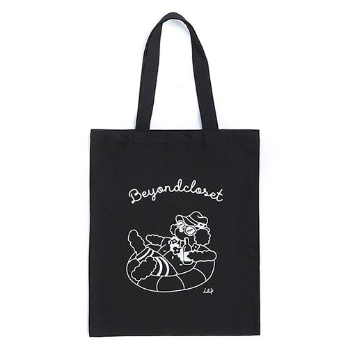ILP LINE DRAWING ECO BAG BLACK