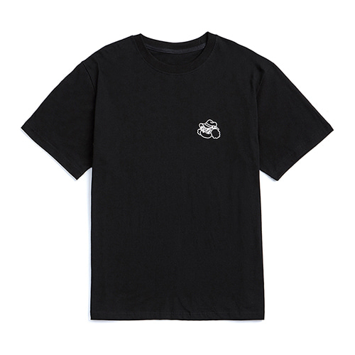 ILP LINE DRAWING 1/2 T-SHIRTS BLACK