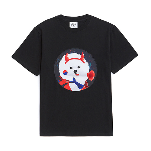 [WORLD CUP EDITION]RED DOG PATCH 1/2 T-SHIRTS BLACK