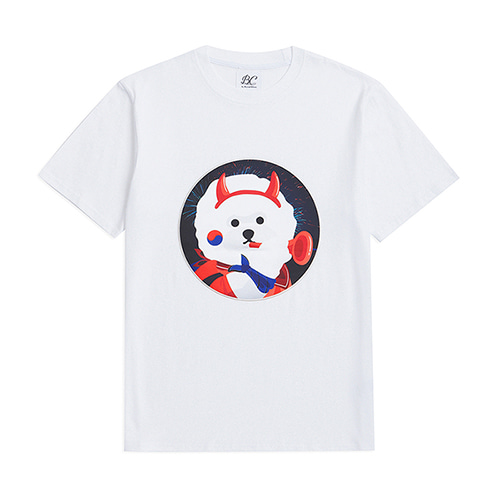 [WORLD CUP EDITION]RED DOG PATCH 1/2 T-SHIRTS WHITE
