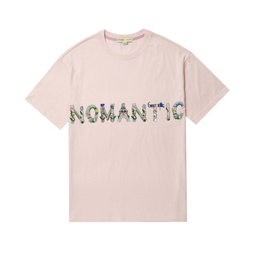 NOMANTIC TROPICAL LOGO 1/2 TS INDI PINK