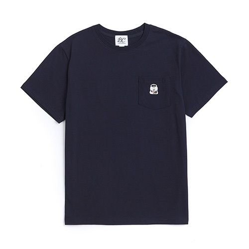 [EXCLUSIVE]ILP LOGO POCKET 1/2 T-SHIRTS NAVY