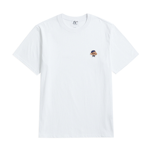 ILP SIGNATURE LOGO 1/2 T-SHIRTS WHITE