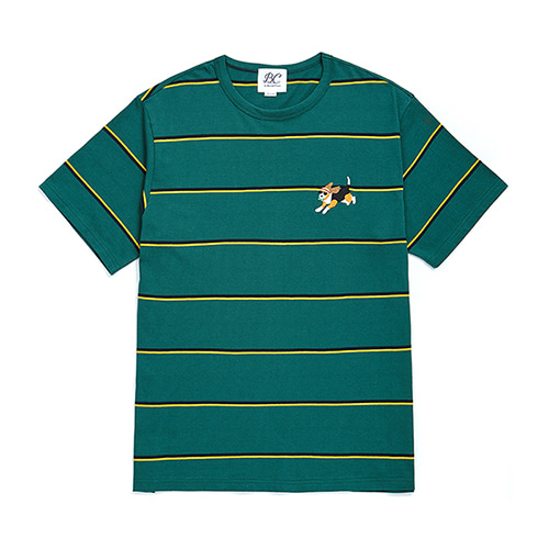 [COLLECTION LINE]BEAUTIFUL STRIPE 1/2 T-SHIRTS GREEN