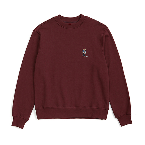 ILP FULL SIZE LOGO SWEAT-SHIRTS BURGUNDY