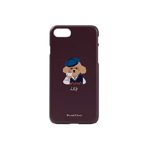 ILP LOGO I-PHONE 8 CASE VER.1 BROWN