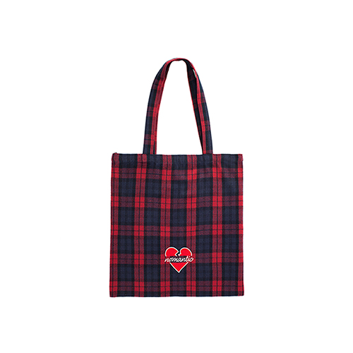 NOMANTIC CHECK BAG RED